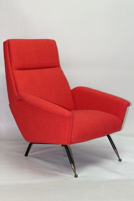 Mid Century Red Armchairs, 1960s, Set Of 2 1