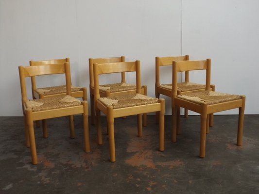 Carimate Side Chairs By Vico Magistretti For Cassina, 1960s, Set Of 6 1