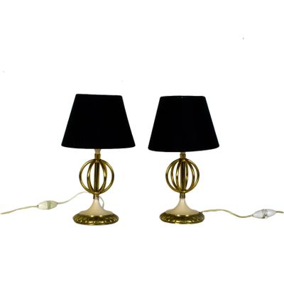 Genial Small French Table Lamps, 1950s, Set Of 2 1