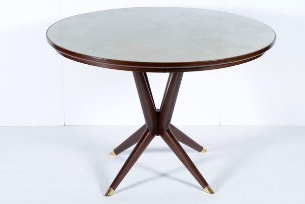 Runder Italienischer Tisch Mit Platte Aus Glas 1950er Bei Pamono Kaufen