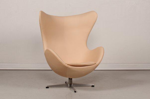Mid Century 3316 Kunstleder Egg Chair Von Arne Jacobsen Für Fritz