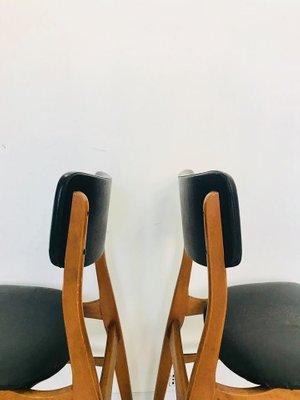 Mid Century Danish Chairs, 1950s, Set Of 4 3