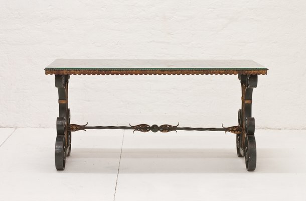 33d525ee97f3 Vintage French Wrought Iron Coffee Table