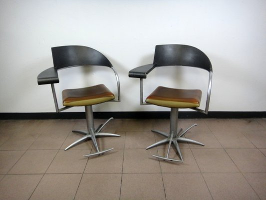 Vintage Barber Chairs By Philippe Starck For Tecno, 1990s, Set Of 2 2