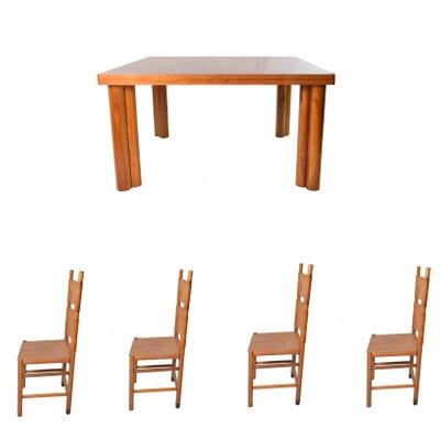 Sedie Kentucky Mid-Century e tavolo Scuderia di Carlo Scarpa per ...