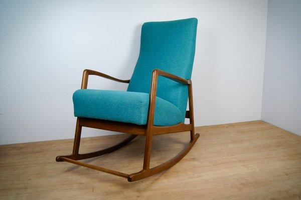 Mid Century Modern German Rocking Chair, 1960s 1