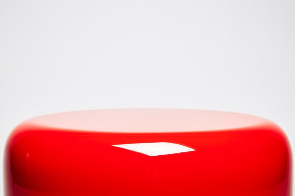 Dot Side Table or Stool in Iconic Red by Reda Amalou