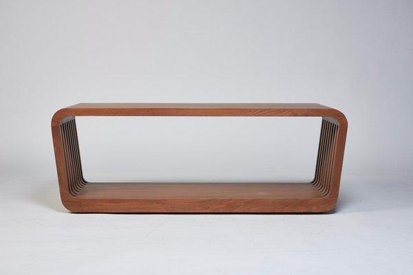 Groovy Large Link Bench Or Coffee Table In Walnut By Reda Amalou Inzonedesignstudio Interior Chair Design Inzonedesignstudiocom