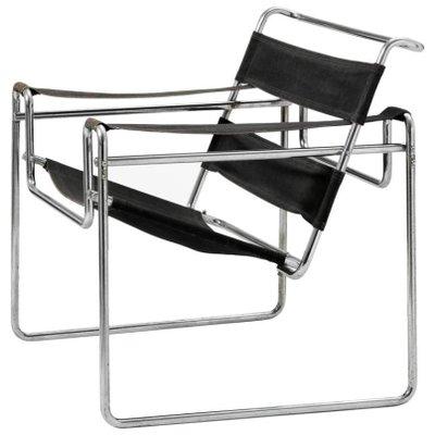 Vintage Model B3 Wassily Chair by Marcel Breuer for Thonet-Mundus 1  sc 1 st  Pamono & Vintage Model B3 Wassily Chair by Marcel Breuer for Thonet-Mundus ...