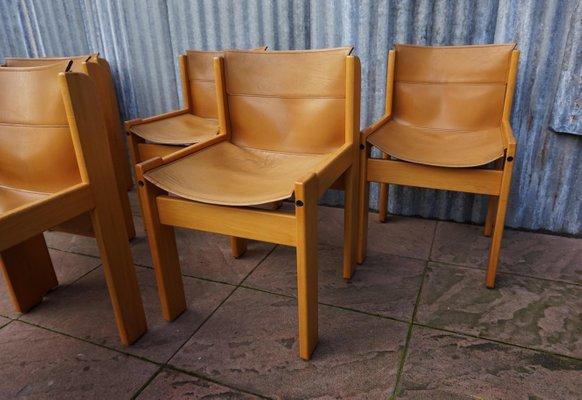 Ibisco Esszimmer Set Mit 6 Lederstühlen Und Ausziehbarem Tisch, 1970er 3