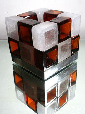 Lampe Cube De Poliarte Italie 1960s