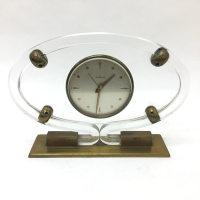 Mid Century Modern Plexiglass Table Clock From Italora For Sale At