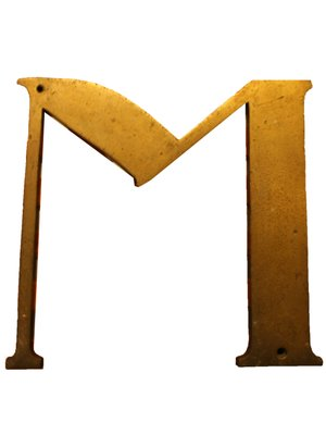 Lettera M antica, Spagna in vendita su Pamono