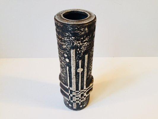Brutalist Stainless Steel Vase By Olav Joff For Polarisfiggjo