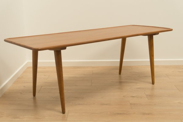 MidCentury AT Oak Coffee Table By Hans J Wegner For Andreas - Mid century oak coffee table
