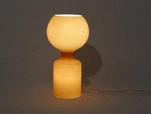 Lampe murano vintage orange en vente sur pamono