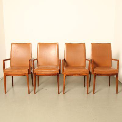 Lederamp; Casala1960er4er Aus Stühle Palisander Von Rio Set Modell Classic Rj3AL54