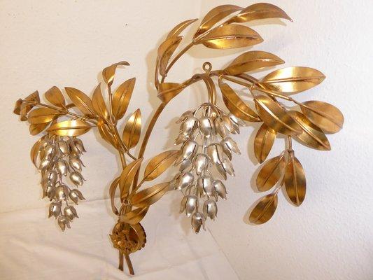 Parete Doro : Lampada da parete pioggia d oro vintage di hans kögl in vendita su