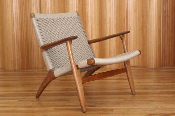 Eichenholz Modell CH25 Sessel Von Hans Wegner Für Carl Hansen And Son,  1950er 1