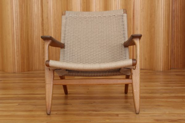 oak model ch25 lounge chair by hans wegner for carl hansen and son
