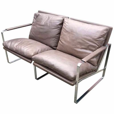 Vintage 2-Seater Leather Sofa by Preben Fabricius & Jørgen Kastholm for  Walter Knoll Edition