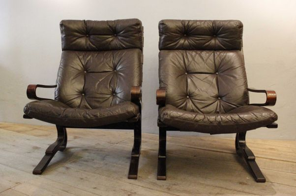 Exceptionnel Vintage Armchairs By Ingman Relling, Set Of 2 1