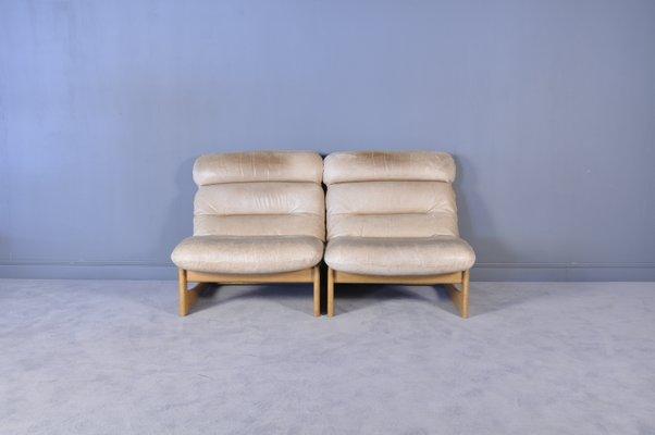 Poltrone Moderne In Pelle.Poltrone Mid Century Moderne In Pelle Set Di 2 In Vendita Su Pamono