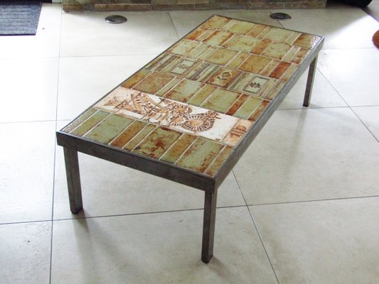 Roger Table Par En Capron1968 Céramique Basse reCoxdB