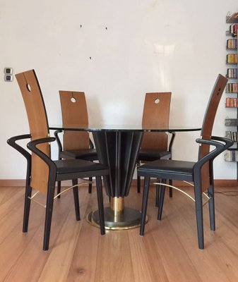 Dining Table 4 Chairs Set By Pierre Cardin