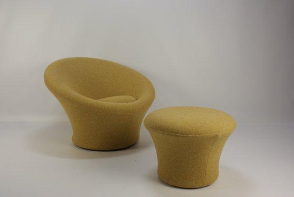 Poltrona a fungo vintage con pouf di Pierre Paulin per Artifort in ...