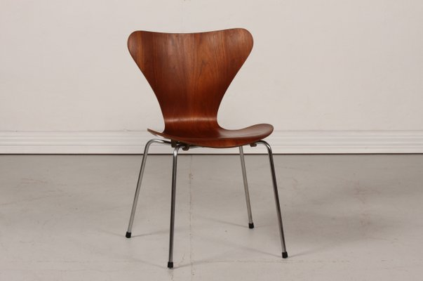 3107 Series 7 Chair In Teak By Arne Jacobsen For Fritz Hansen 1966