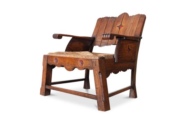 Superbe Antique Lounge Chair 1