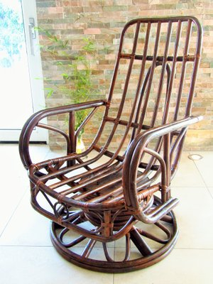 Super Mid Century Rattan Rocking Chair Gmtry Best Dining Table And Chair Ideas Images Gmtryco