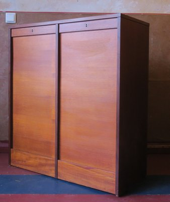 Danish Teak Sliding Door Cabinet, 1960s for sale at Pamono