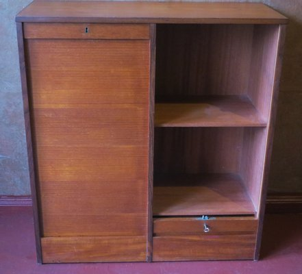 Danish Teak Sliding Door Cabinet 1960s For Sale At Pamono