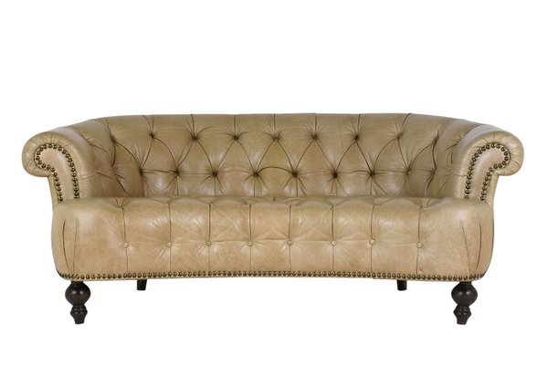 Delicieux Chesterfield Style Leather Sofa, 1960s 1