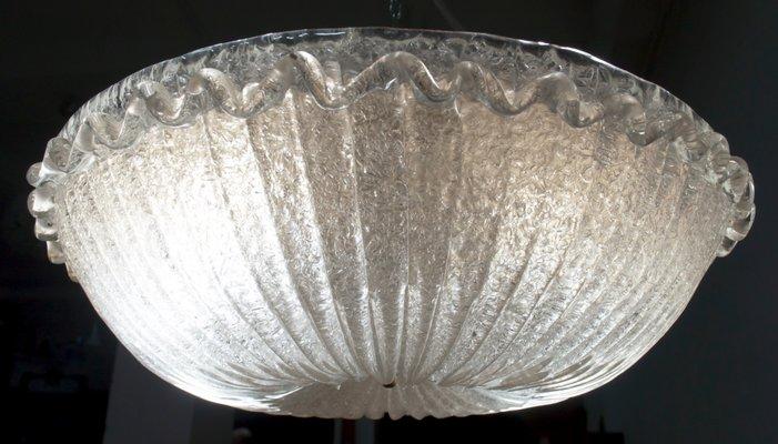 Plafoniere Da Soffitto In Cristallo : Lampada da soffitto in vetro di murano barovier toso