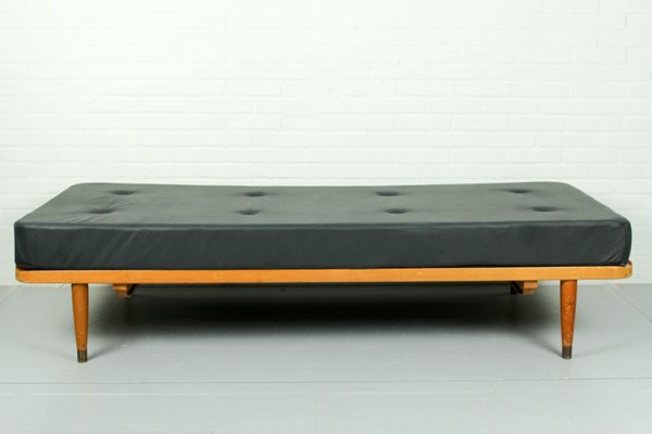 Daybed Vintage vintage elmonordic grey leather daybed for sale at pamono