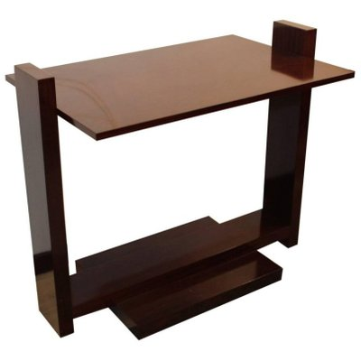 Varnished Rosewood Console Table 1930s