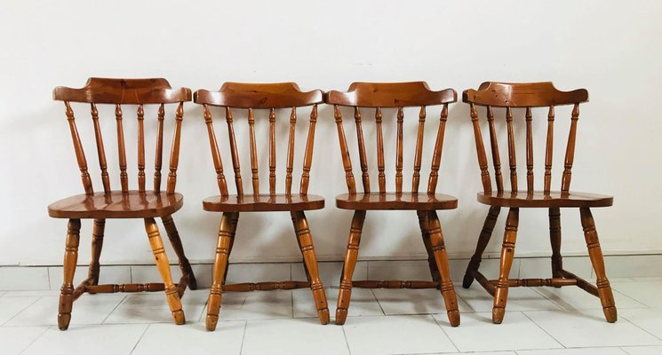 Rustic Kitchen Chairs 1930s Set of 4 2 & Rustic Kitchen Chairs 1930s Set of 4 for sale at Pamono
