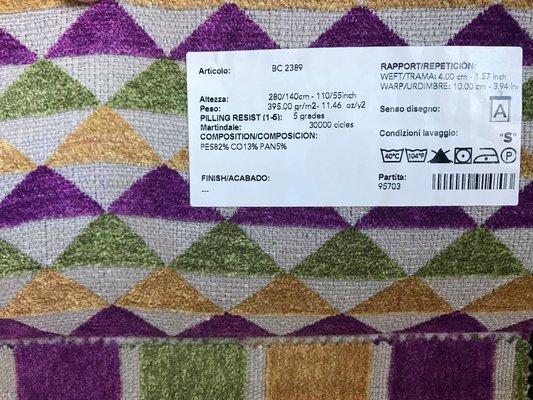 Panca rustica in tessuto di ciniglia di cotone, anni \'20 in vendita ...