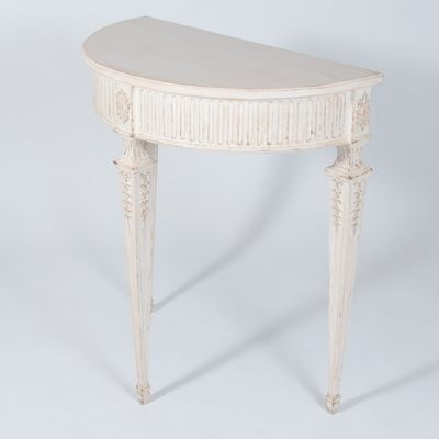 Antique Swedish Gustavian Style Demi Lune Console 1 - Antique Swedish Gustavian Style Demi Lune Console For Sale At Pamono