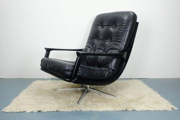 Sedie Da Ufficio In Pelle : Sedia da ufficio in pelle nera anni 60 in vendita su pamono