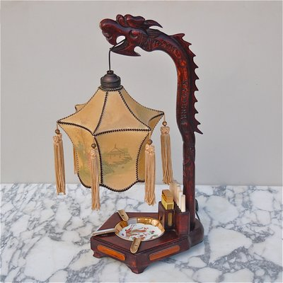 Chinese dragon table lamp with ashtray and cigarette holder 1920s chinese dragon table lamp with ashtray and cigarette holder 1920s 1 aloadofball Choice Image