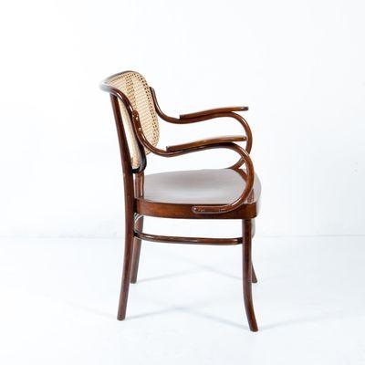 Gentil Vintage Nr. 283 F Bentwood Armchairs By Gustav Adolf Schneck For Thonet,  Set Of