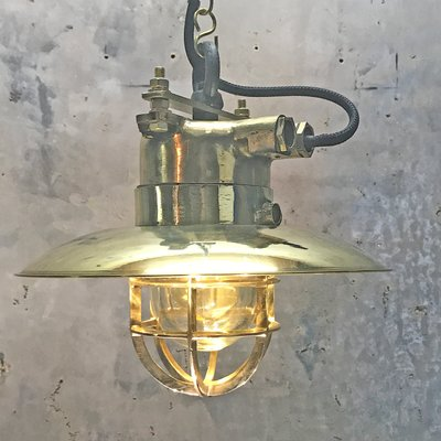 De Et WiskaAllemagne1976 À Industrielle Lampe En Bronze Suspension Laiton bYgv7f6y