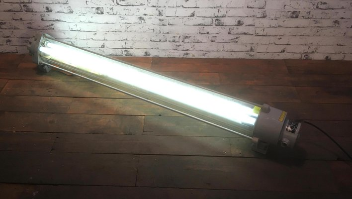 Vintage Fluorescent Light From Leuchtenbau Wittenberg