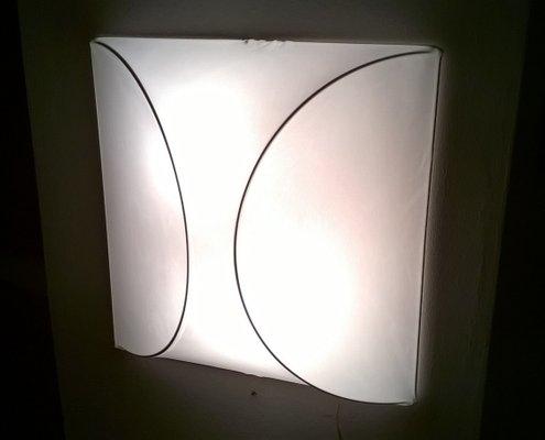 Lampade da parete in tessuto italia anni set di in