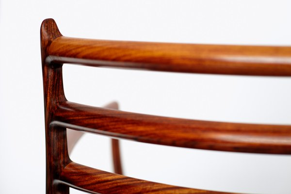 Fauteuil Modèle 62 en Palissandre par Niels Otto Møller pour J.L. ...