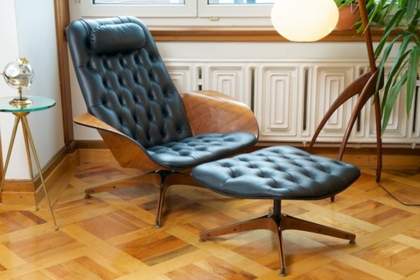 Superb Vintage Mr Chair Leather Lounge Chair By George Mulhauser For Plycraft The Exceptional Pdpeps Interior Chair Design Pdpepsorg
